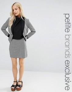 Мини-юбка в ломаную клетку Fashion Union Petite - Мульти