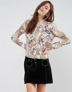 Блузка с цветочным узором Brave Soul - Кремовый