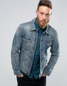 Джинсовая куртка с рваной отделкой Wrangler - Синий