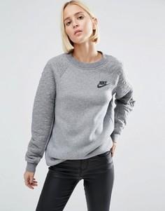 Серый стеганый свитшот Nike Rally - Серый