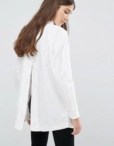 Oversize-рубашка с разрезом на спине Vila - Белый