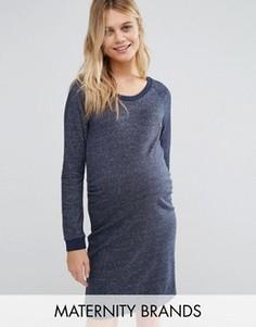 Трикотажное платье для беременных Mamalicious Maternity - Серый Mama.Licious