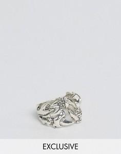 Кольцо с драконьим когтем Reclaimed Vintage - Серебряный