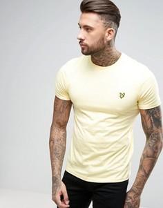 Желтая футболка классического кроя Lyle & Scott - Желтый