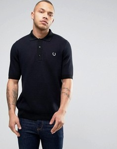 Fred Perry REISSUES Polo Mesh Knit in Navy - Темно-синий