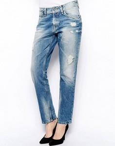Рваные джинсы бойфренда Pepe Jeans - Синий