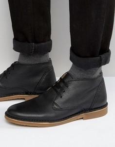 Кожаные ботинки Selected Homme New Royce - Черный