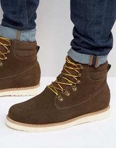 Ботинки из нубука со шнуровкой Bellfield Noma - Коричневый