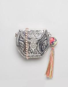 Металлическая сумка-футляр через плечо ASOS BEACH - Серебряный