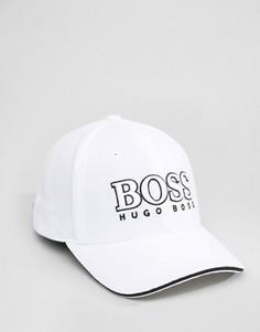Белая бейсболка с логотипом BOSS Green By Hugo Boss - Черный