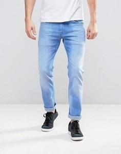 Узкие выбеленные джинсы Pepe Zinc - Синий
