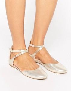 Золотистые балетки ALDO Falorisa - Золотой