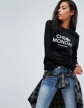 Свитшот Cheap Monday Win - Черный