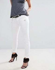 Байкерские джинсы с молниями и карманом Replay Brigidot - Белый