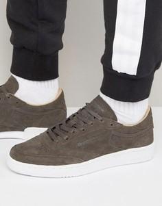 Серые замшевые кроссовки Reebok Club C 85 LST BD1899 - Серый