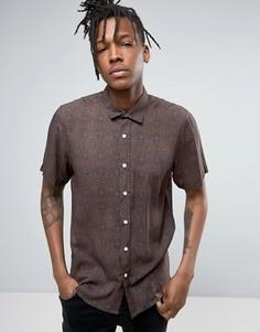 Рубашка классического кроя с принтом в винтажном стиле ASOS - Черный