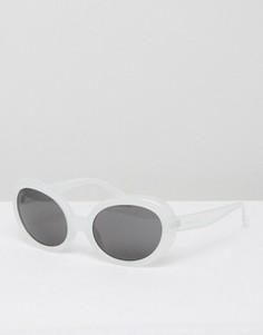 Солнцезащитные очки кошачий глаз в белой оправе Cheap Monday Kurt - Белый
