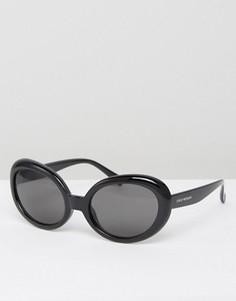 Черные солнцезащитные очки кошачий глаз Cheap Monday Kurt - Черный