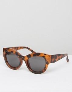 Солнцезащитные очки кошачий глаз в черепаховой оправе Cheap Monday - Коричневый
