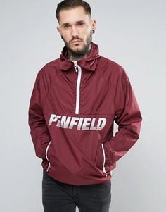 Бордовая легкая куртка через голову Penfield - Красный