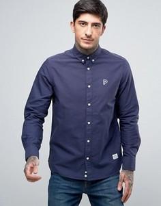 Темно-синяя оксфордская рубашка классического кроя на пуговицах Penfield Porterville - Темно-синий