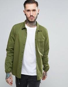 Зеленая рубашка навыпуск в стиле милитари Penfield Blackstone - Зеленый