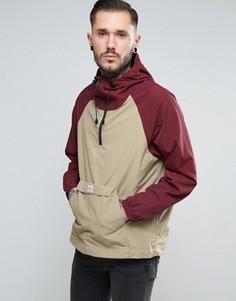 Двухцветная куртка через голову с капюшоном Penfield Pac Jac - Красный