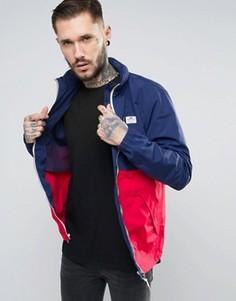 Двухцветная куртка с убирающимся капюшоном Penfield Barnes - Темно-синий
