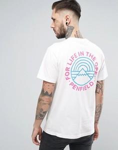 Белая футболка с принтом на спине Penfield Emblem - Белый