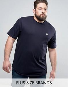 Длинная футболка с необработанным краем Le Breve PLUS - Черный