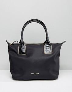 Нейлоновая сумка-тоут Ted Baker Aviaa - Черный