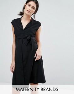 Платье без рукавов с поясом Mamalicious - Черный Mama.Licious