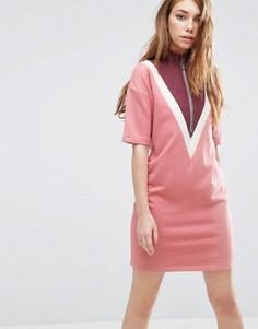 Платье-свитшот свободного кроя в стиле колор блок ASOS - Мульти