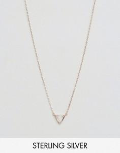 Треугольная подвеска с полудрагоценным лунным камнем Carrie Elizabeth - Золотой