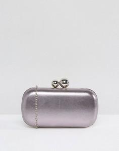 Клатч цвета металлик Chi Chi London - Серый