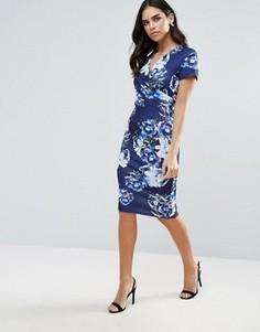 Платье миди с принтом Jessica Wright - Синий