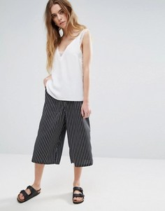 Юбка-брюки в полоску Glamorous - Черный