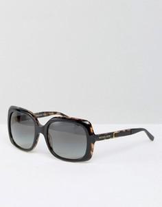 Большие солнцезащитные очки в квадратной оправе Michael Kors - Черный