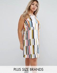 Разноцветное платье без рукавов Junarose - Мульти