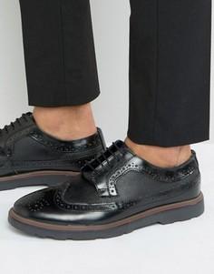 Черные кожаные броги Silver Street Soho - Черный