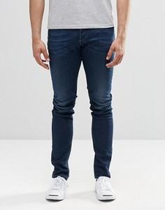 Темные зауженные джинсы Diesel Sleenker 854E - Синий