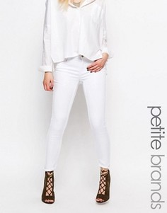 Супероблегающие джинсы Noisy May Petite Lucy - Белый