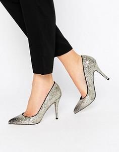 Туфли-лодочки на каблуке с блестками Little Mistress Astaire - Золотой