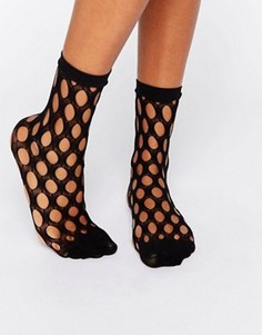 Сетчатые носки ASOS - Черный