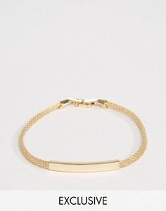 Золотистый браслет-цепочка DesignB London - Золотой