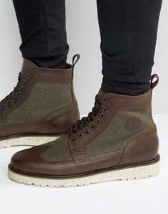 Ботинки-броги из шерсти и кожи Fred Perry Northgate - Коричневый