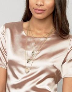 Ожерелье-чокер с кисточкой Ashiana - Серый