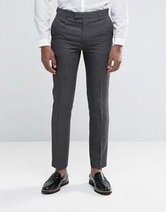 Серые брюки узкого кроя Harry Brown - Серый