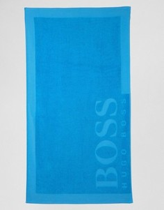 Пляжное полотенце с логотипом BOSS By Hugo Boss - Синий