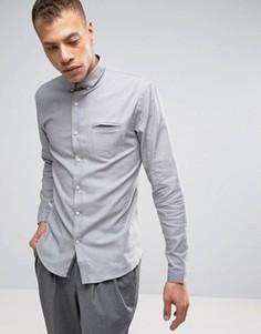 Светло-серая узкая эластичная рубашка Lindbergh - Серый